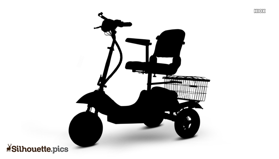 3 Wheel Electric Mobility Scooter Silhouette