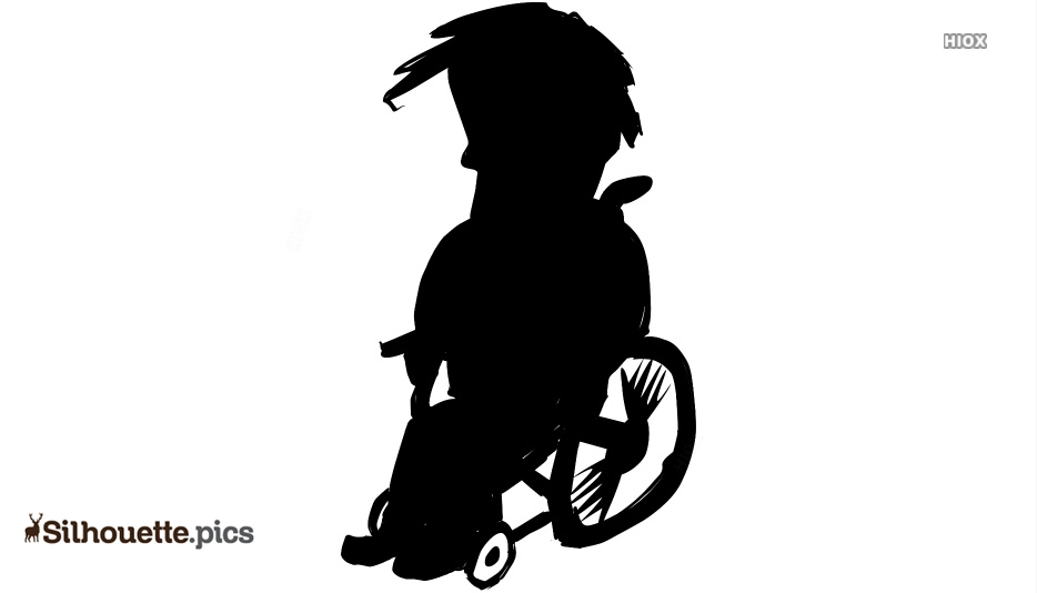 African Man In A Wheelchair Silhouette