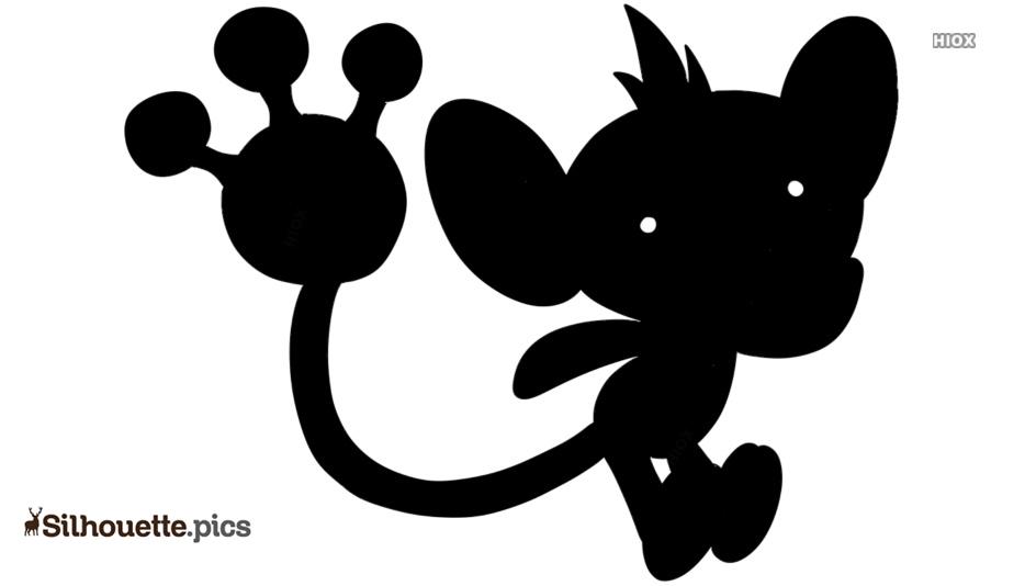 Aipom Pokemon Silhouette Clip Art