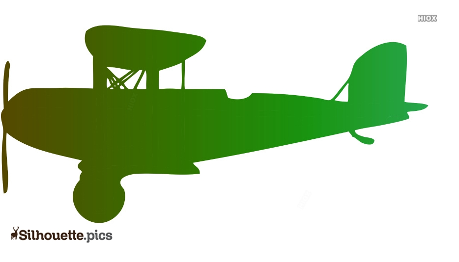 Vintage Airplane Silhouette Vector Clipart Images Pictures