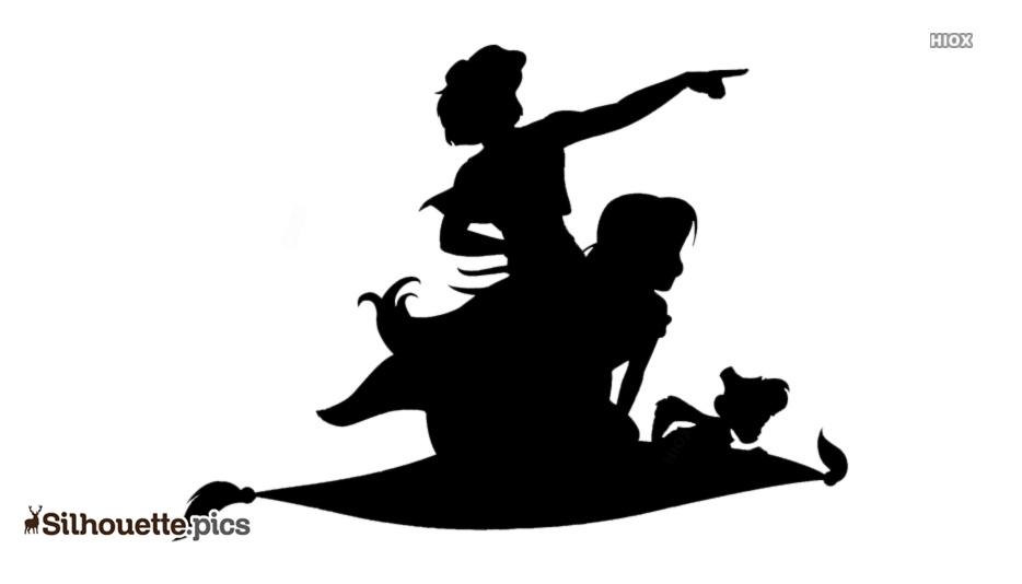 Aladdin Silhouette Art