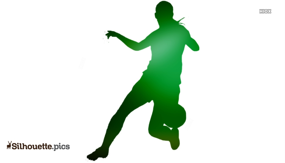 Playing Soccer Vector Silhouette Images