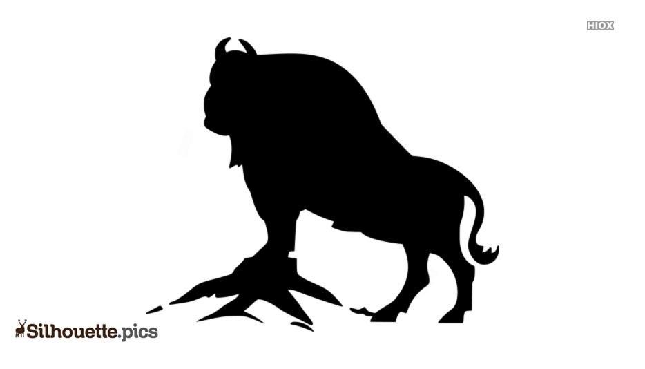 American Buffalo Silhouette, Clip Art