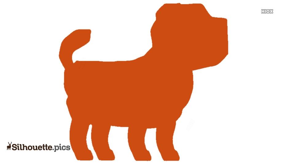 Anatolian Shepherd Cartoon Dog Silhouette