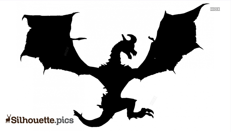 Angry Dragon Silhouette