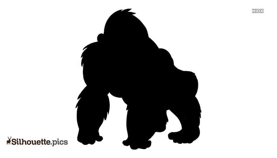 Angry Gorilla Silhouette