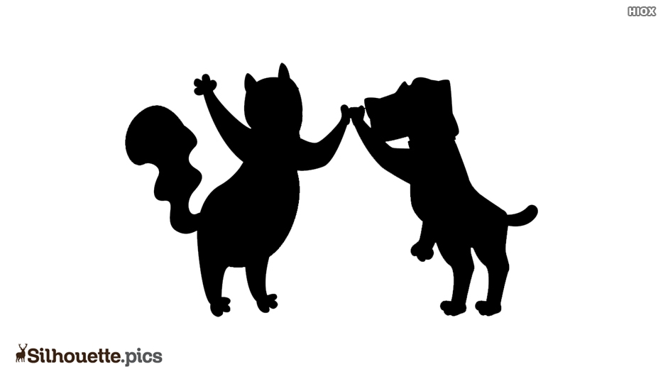 Anime Best Friends Silhouette