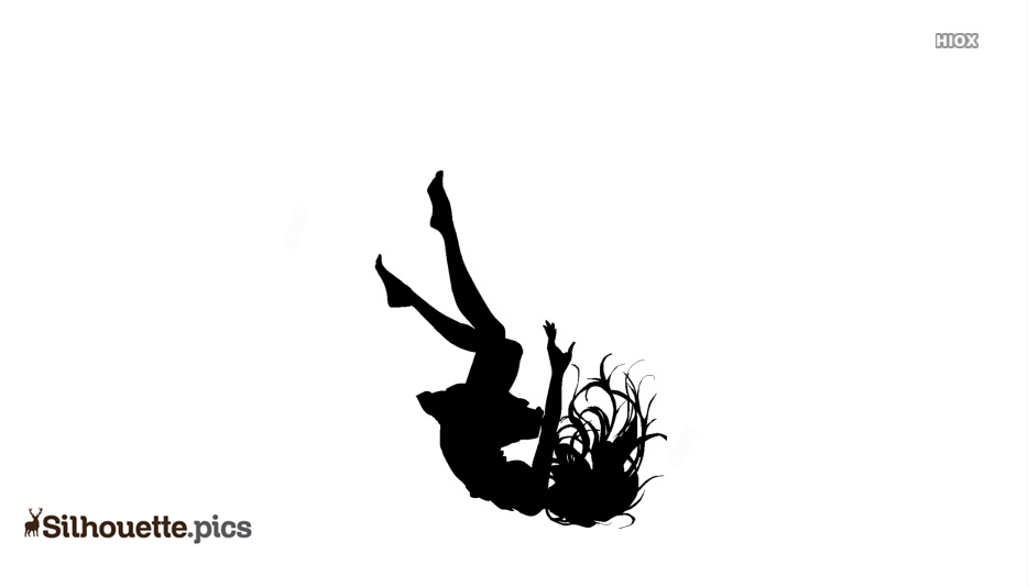 Anime Girl Falling Silhouette Vector And Graphics
