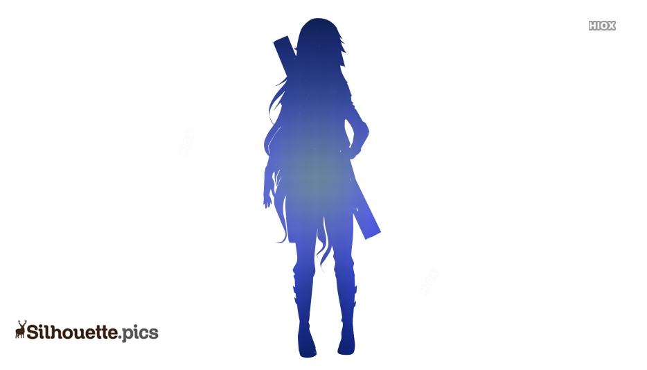 Anime Girl Silhouette