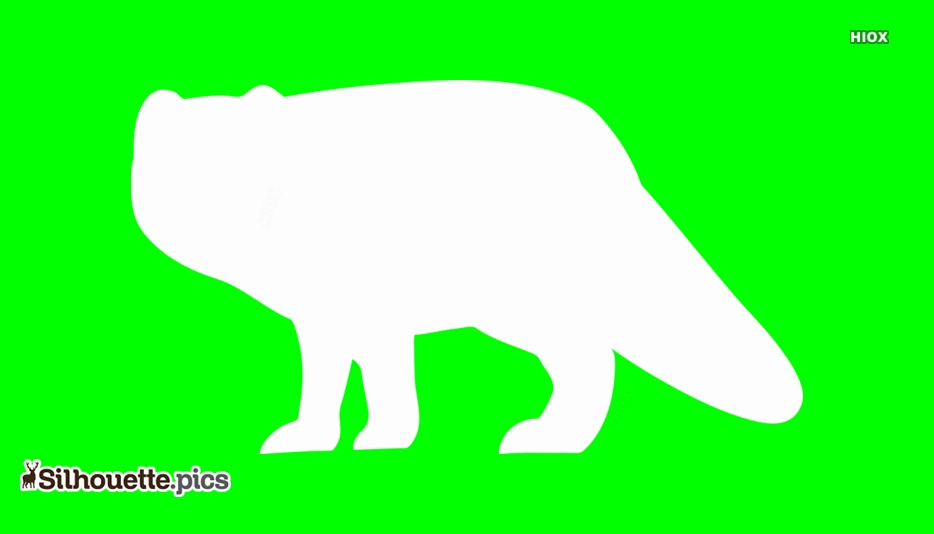Arctic-fox-silhouette by paperlightbox on DeviantArt