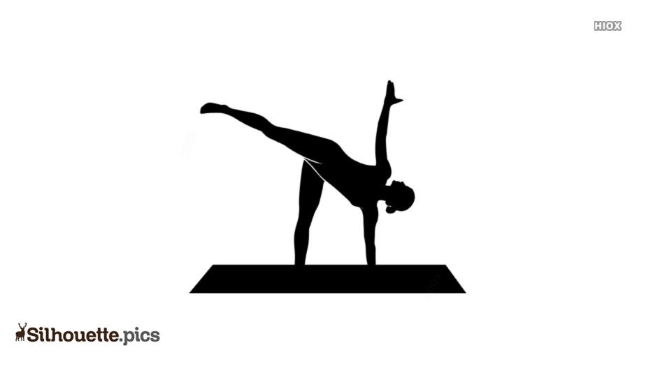 Ardha Chandrasana Yoga Pose Silhouette