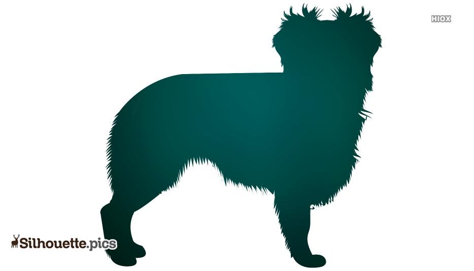 Australian Shepherd Dog Clipart Silhouette
