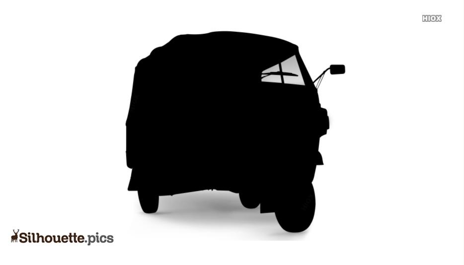 Auto Rickshaw Silhouette Clipart