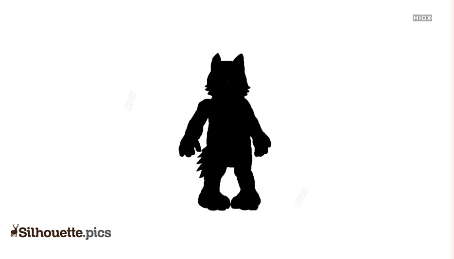 Baby Cartoon Wolf Silhouette