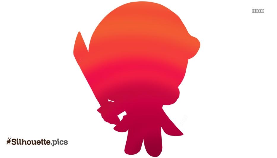 Baby Deadpool Silhouette Clipart