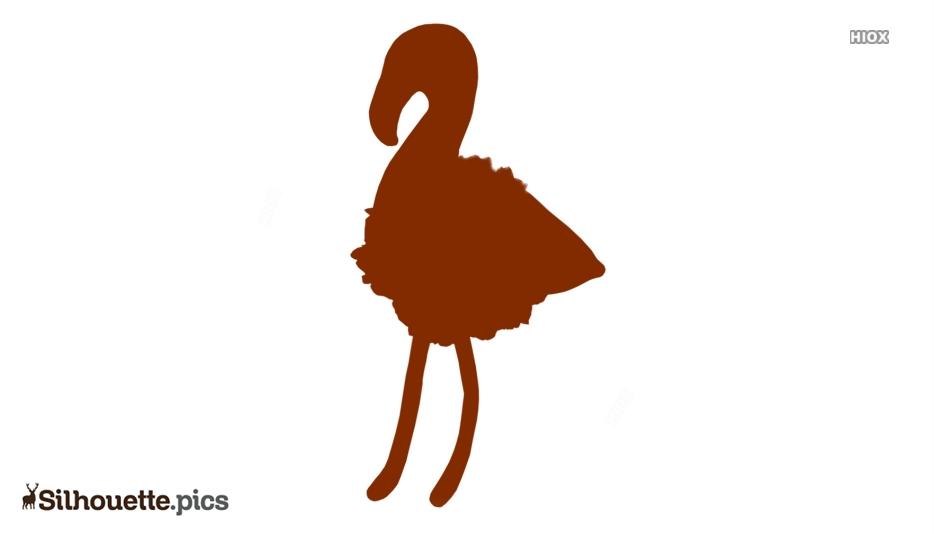 Baby Flamingo Silhouette Free Vector Art