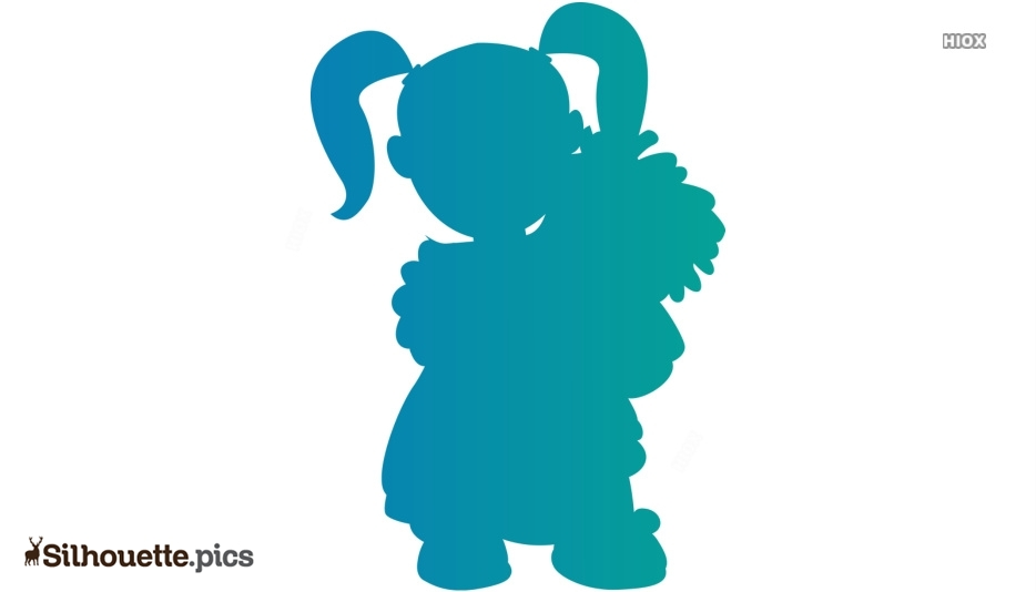 Baby Girl Playing With Toy Silhouette
