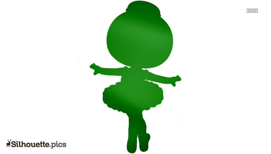Baby Princess Ballerina Dance Pose Silhouette