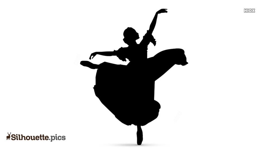 Ballerina Girl Silhouette Clip Art