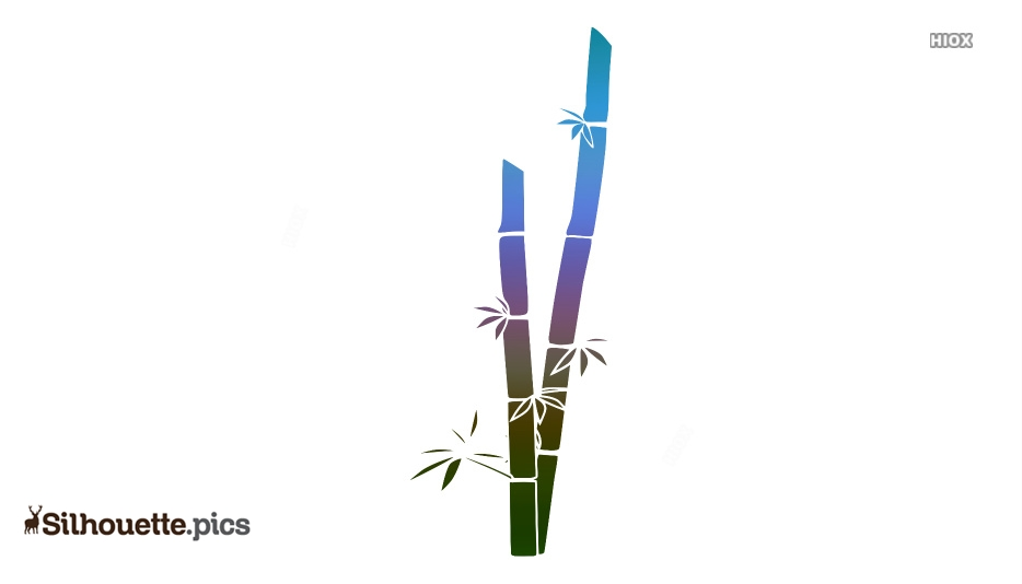 Bamboo Drawing Silhouette
