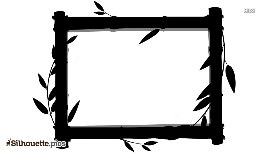 Bamboo Frame Silhouette Drawing