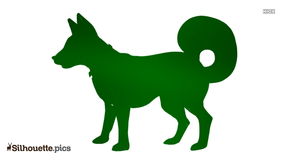 Barking Dog Silhouette Image And Vector
