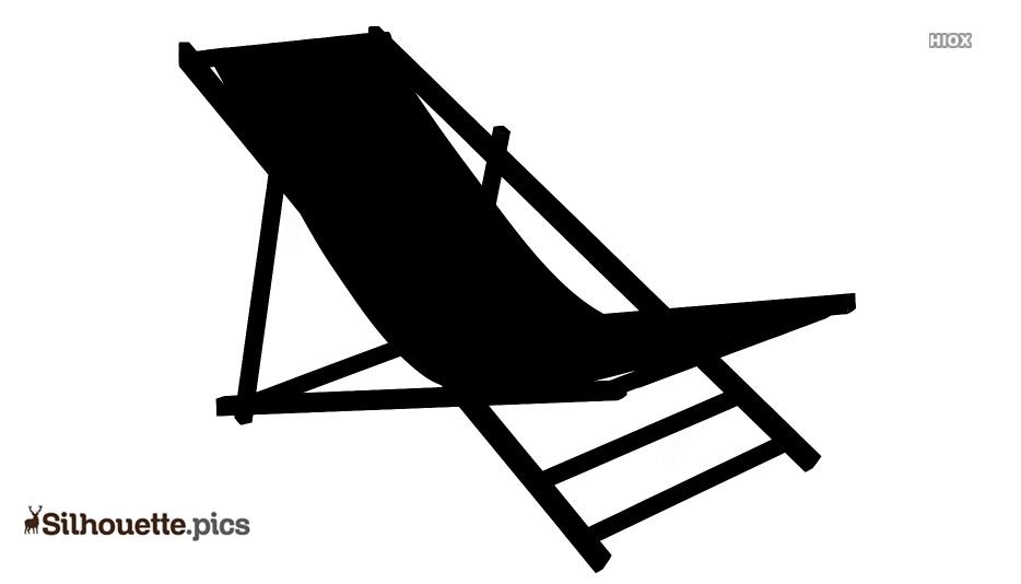 Beach Chair Silhouette Black and White @ Silhouette.pics