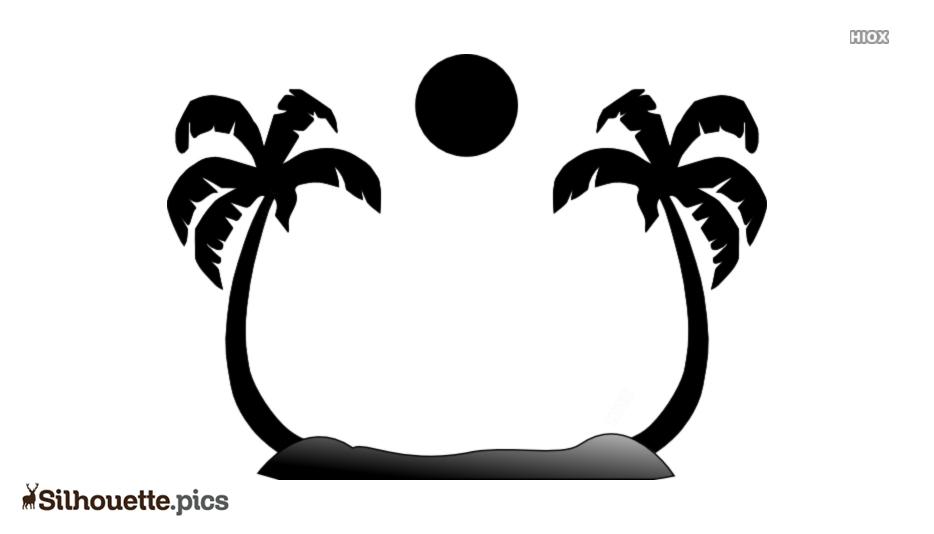 Beach Scene Silhouette Image