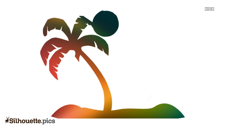 Beach Scene Silhouette Image And Vector Illustration