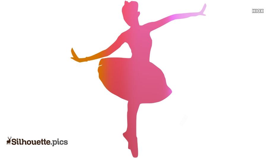 Beautiful Dance Silhouette Clipart