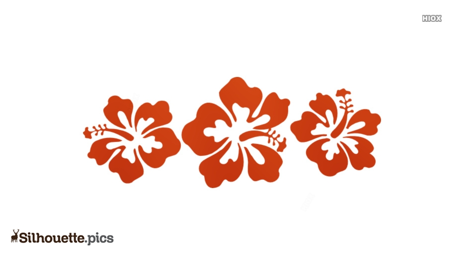 Flower Drawing Vector Silhouette Images