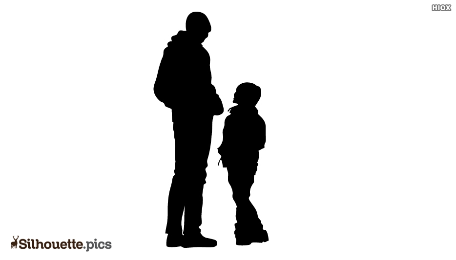 Best Dad With Child Silhouette