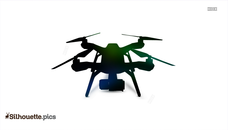 Drone With Camera Silhouette Image