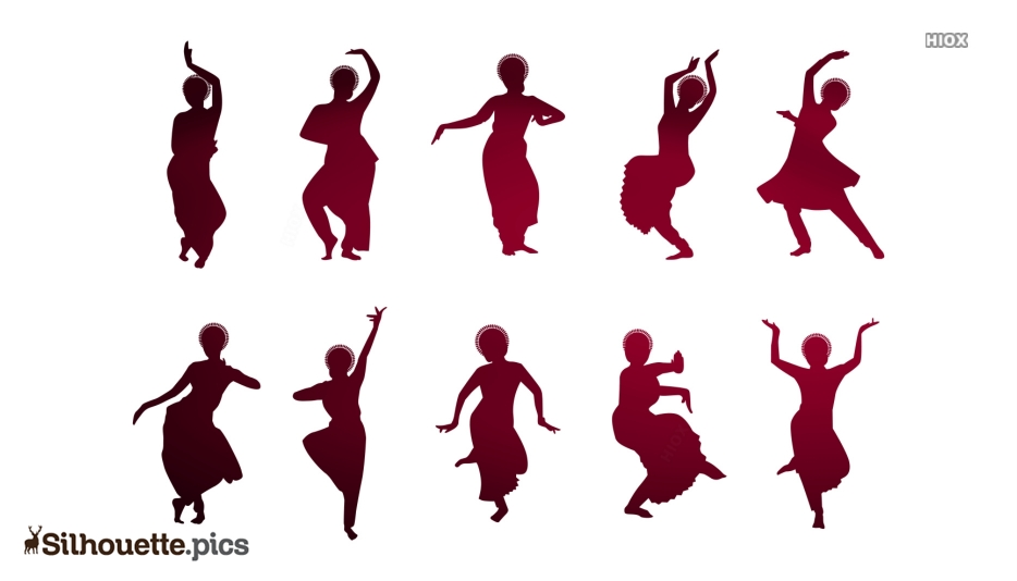 Bhangra Poses Logo Silhouette For Download