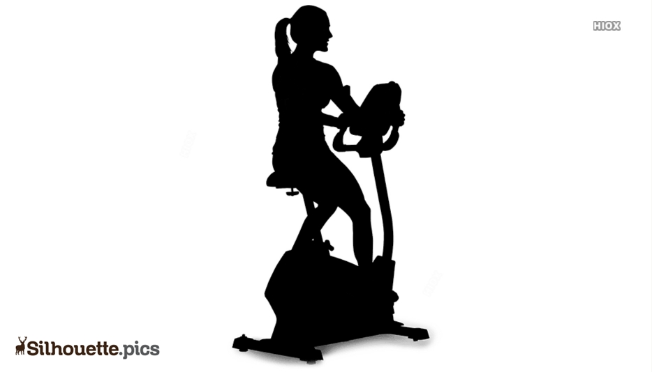 Bicycle Exercise Silhouette Drawing