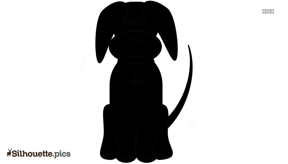 Big Dog Cartoon Silhouette Icon