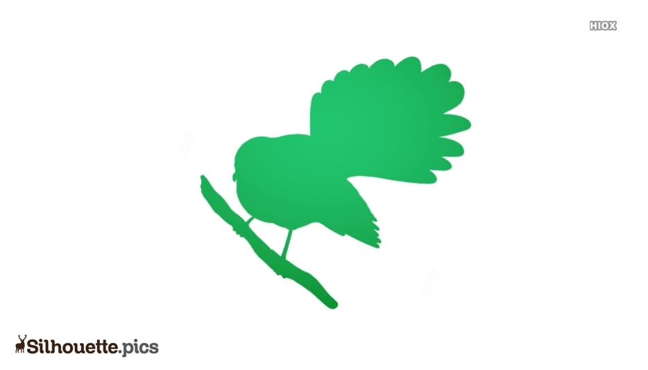 Bird Fantail Silhouette