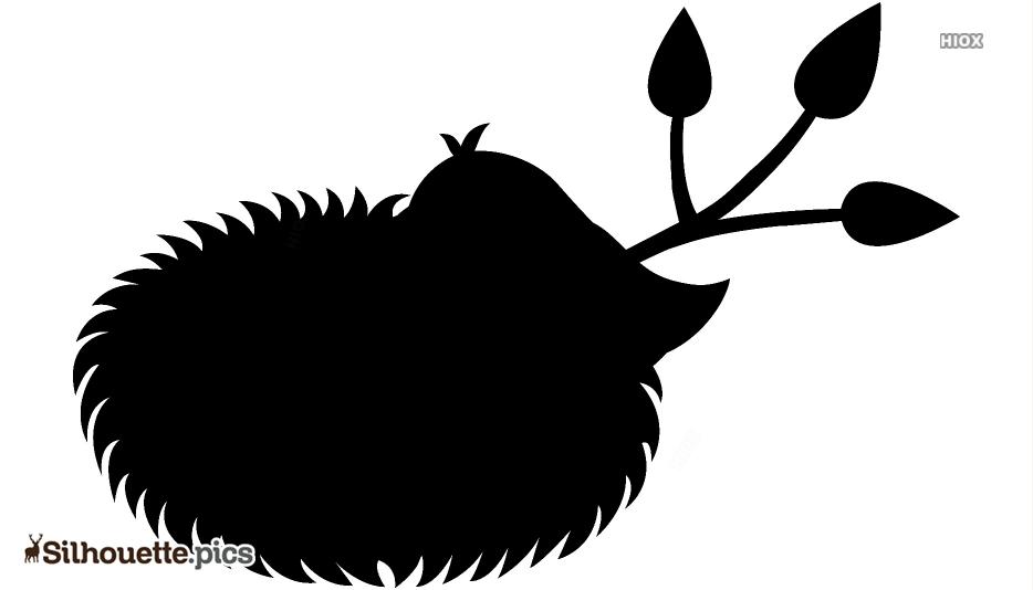 Bird Nest Cartoon Silhouette