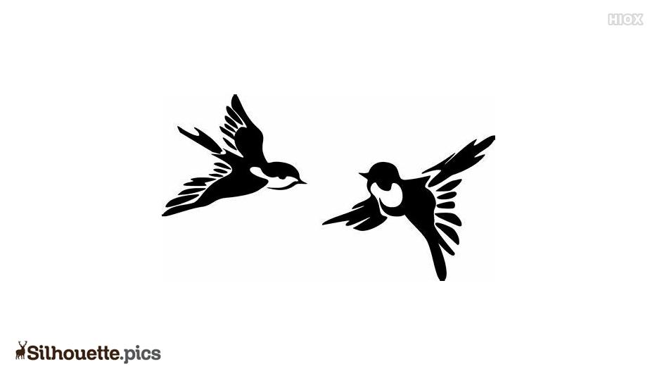 Birds Silhouette In Flight