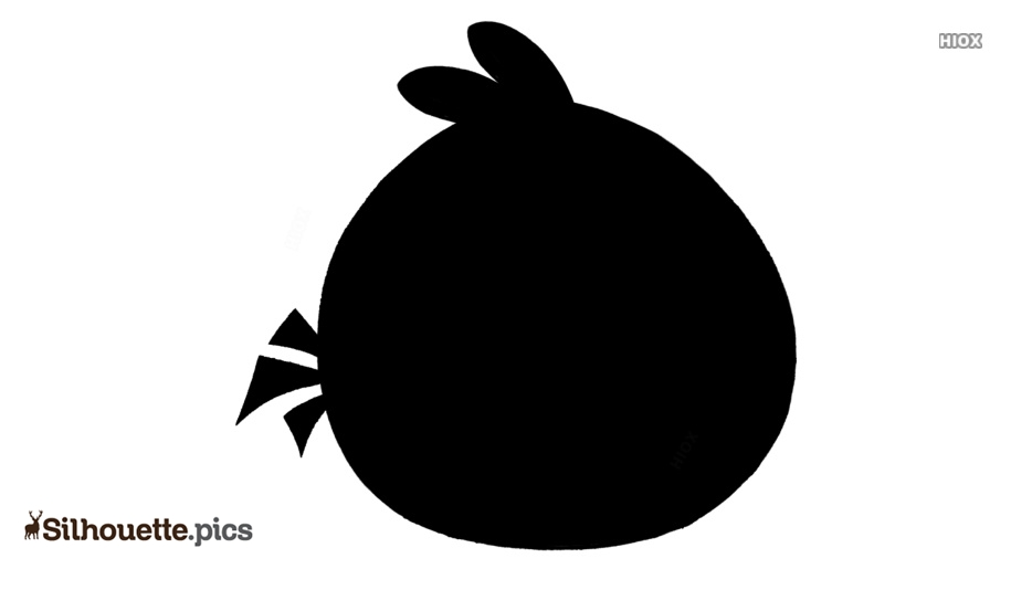 Black And White Angry Bird Silhouette