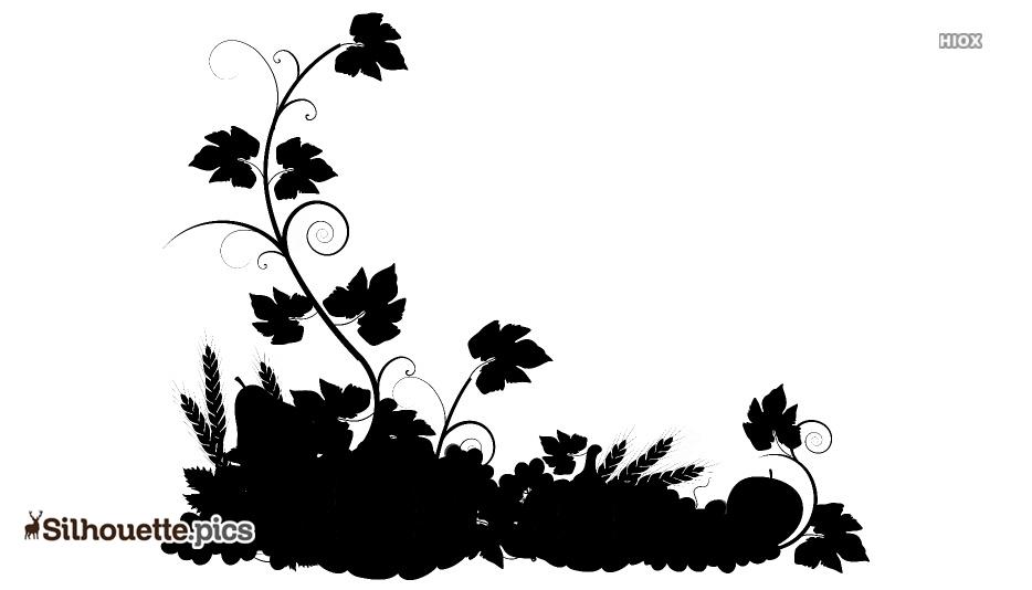 Black And White Autumn Silhouette