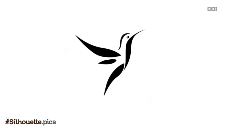 Black And White Birds Vector Silhouette