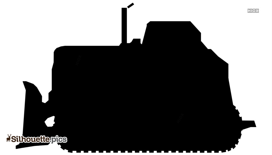Black And White Bulldozer Silhouette