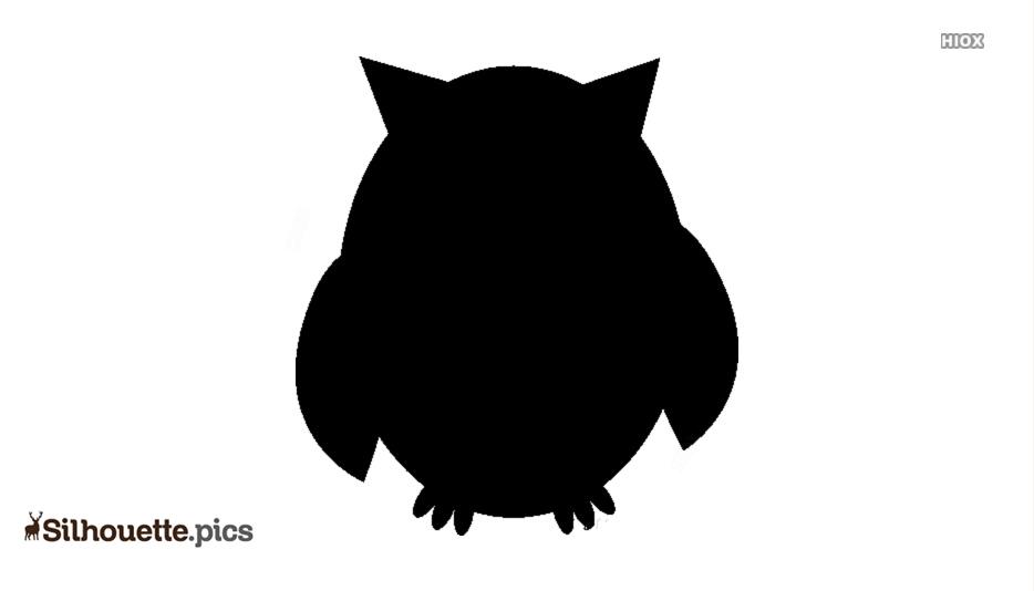Black And White Cartoon Bird Silhouette