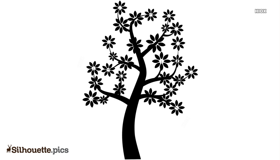 Black And White Cartoon Tree Silhouette Picture