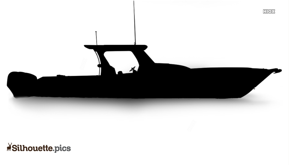 Download Center Console Boats Silhouette Vector Clipart Images Pictures