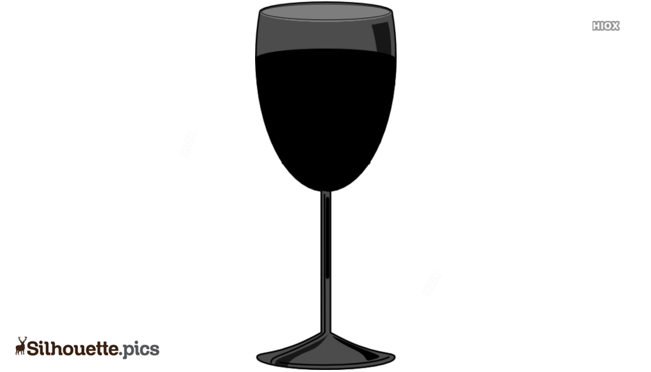 Black And White Glass Of Wine Silhouette Image
