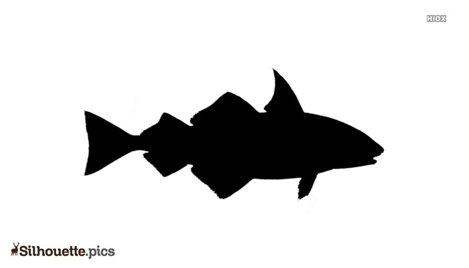 Black And White Haddock Fish Silhouette