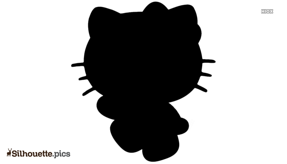 Black And White Hello Kitty Silhouette
