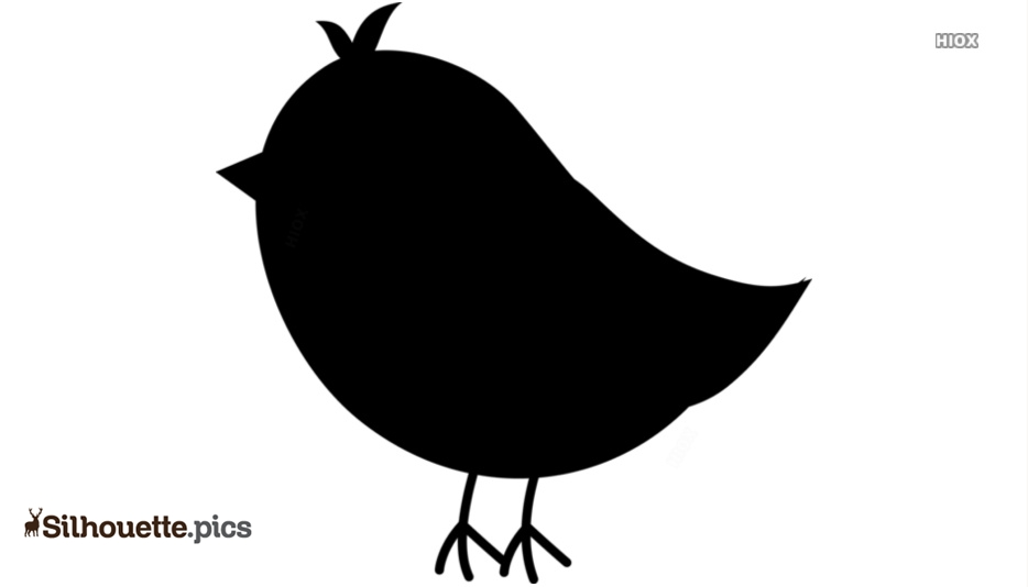 Black And White Songbird Clipart Silhouette